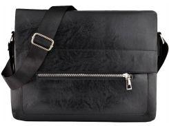 Мужская сумка Luvete Лювете с одним отделением черная (М2705-1)