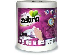 Кухонные полотенца Zebra Economy двухслойные в упаковке 1 рулон (3800090304524)