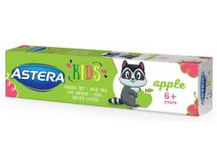 Детская зубная паста Astera Kids для детей от 6 лет и старше с ароматом яблока 50 мл (3800013514382)