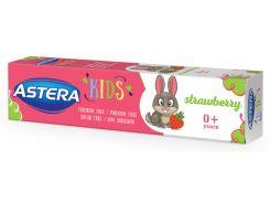 Детская зубная паста Astera Kids для ранних молочных зубов с ароматом клубники 50 мл (3800013515464)