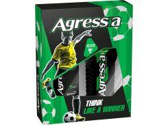 Подарочный набор men Agressia Fresh гель для душа 250 мл дезодорант 150 мл (NPA041)