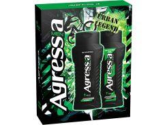 Подарочный набор men Agressia Fresh шампунь 250 мл гель для душа 250 мл (NPA071)