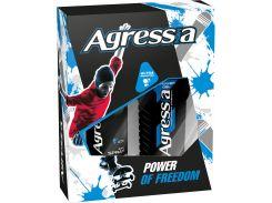 Подарочный набор men Agressia Sensitive гель для душа дезодорант для чувствительной кожи (NPA043)