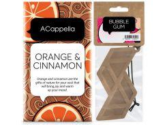 Набор ACappella аромасаше Апельсин в корице и аромат для авто Bubble Gum  (5060574611519-13247)