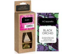 Набор ACappella аромасаше Черная орхидея и аромат для авто в стекле Рубин (5060574611465-12783)