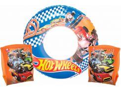 Комплект для плавания Bestway Бествей Hot Wheels нарукавники и круг (93401-02)