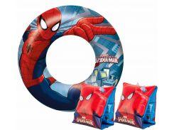 Комплект для плавания Bestway Бествей Человек-паук нарукавники и круг (98001-03)