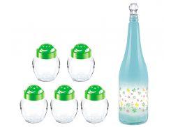 Набор Sarina набор для специй Феликс 4 шт по 370 мл бутылка Дизайн 1000 мл (S974-195pn)