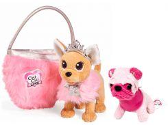 Набор Chi Chi Love Мини-модница Мопс с розовой мордочкой + Собачка Чихуахуа Фэшн Принцесса (589 0208-3126)