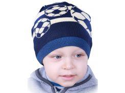 Детская шапочка Babasik Ростик синий (Ростік 50-52)