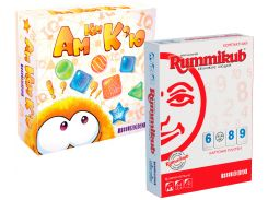 Набор настольных игр Feelindigo Филиндиго Ам Ням Кью + Rummikub (FI8500_IM16002)