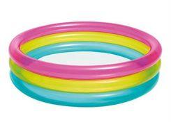 Детский надувной бассейн Радуга, 3 секции (85 х 85 х 23 см), Intex (уценка)