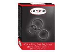 Эрекционные кольца - MALESATION Cock Ring Set Beginner (2,2 см, 2,7 см, 3 см)
