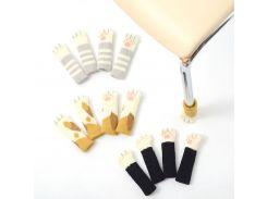 """Носочки для стула и стола – """"Лапки-нецарапки"""" черные"""