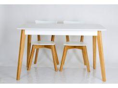 Стол обеденный Сингл каркас дуб / столешница белый