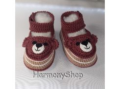Вязаные пинетки мишки Harmony Teddy