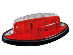 Фонарь габаритный Fristom бело-красный с проводом FT-010-2