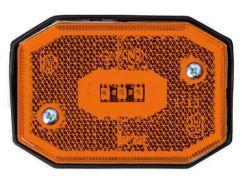 Фонарь габаритный Fristom FT-001 Z LED желтый со светоотражателем и проводом
