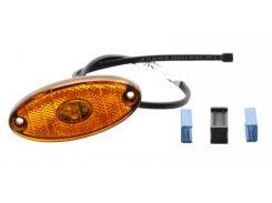 Боковой оранжевый контурно-габаритный фонарь с отражателем Aspock Flatpoint II Led 10675