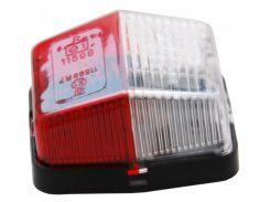Контурно-габаритный фонарь красно-белый Jokon 10427