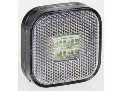 Фонарь габаритный белый Fristom FT-027 B LED с проводом
