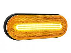 Фонарь габаритный Fristom FT-071 LED желтый с отражателем, указателем поворота и проводом