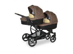 Детская коляска для двойни Verdi FOR2 07 коричневый с бежевым