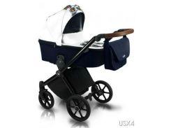 Универсальная детская коляска 2 в 1 BEXA ULTRA STYLE X 04 Белый/Синий