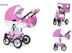 Детская универсальная коляска 2 в 1 Riko Brano Ecco  18 Розовый