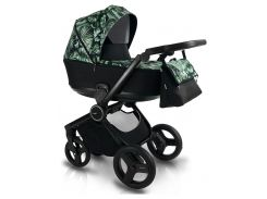Универсальная детская коляска 2 в 1 BEXA FRESH FR3 Чёрный/Зелёный