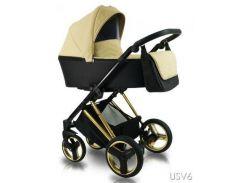 Универсальная детская коляска 2 в 1 BEXA ULTRA STYLE V USV6 Беж/Золотой