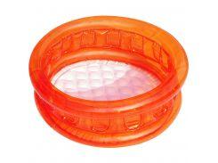BW Бассейн 51112 ( 51112(Orange) Оранжевый детский, круглый, надувное дно, в кор-ке, 64-25см)