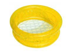 BW Бассейн 51112 ( 51112(Yellow) Жёлтый детский, круглый, надувное дно, в кор-ке, 64-25см)
