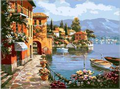 "Картина по номерам. ""Морской городок"" 40*40см KpNe-02-09"