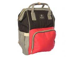 Сумка-рюкзак универсальный MK 2878, 40?25?13 см, красно-серый