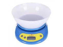 Весы кухонные с чашей 5 кг Stenson Е00018, синие