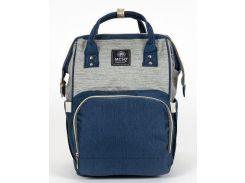 Сумка-рюкзак MK 2878, 40x25x13 см, сине-серый
