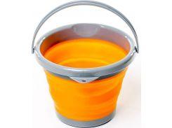Складное ведро силиконовое 5л. Tramp TRC-092 Orange