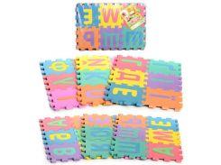 Коврик Мозаика M 0379 EVA, алфавит (укр), 36дет, 16,5-16,5см, 6 частей, в кульке, 45-31-5см