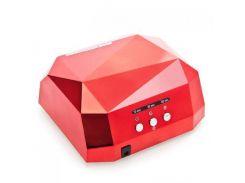УФ лампа для маникюра UKC и педикюра 36Вт CCFL+LED UV таймер D-058 красная