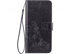 Кожаный чехол (книжка) Four-leaf Clover с визитницей для Asus Zenfone Max Pro M2 (ZB631KL)