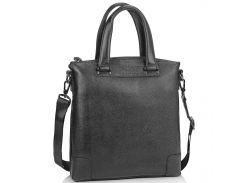 Кожаная черная сумка мужская с ручками Tiding Bag M38-9160-1A