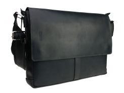 Сумка мужская для документов большая кожаная А4 SULLIVAN smg6(45) черная