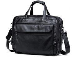 Мужская кожаная сумка на три отдела Tiding Bag A25F-9001А