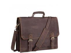 Коричневый мужской портфель из натуральной кожи Tiding Bag GA2095R
