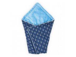 Конверт для новорожденного Синий с Голубым