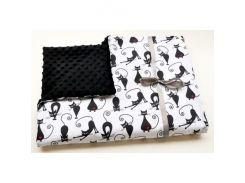 Плед для новорожденного Черно-белый Кошка