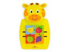 Настенная игрушка Viga Toys Жираф с фруктами (50680)