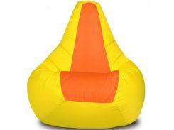 Кресло-мешок Груша Хатка средняя Желтая с Оранжевым (подростковая)