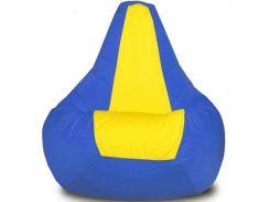 Кресло-мешок Груша Хатка средняя Синяя с Желтым (подростковая)